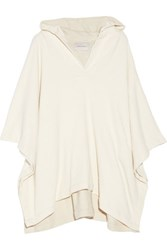 Solid And Striped The Beach Cape Cotton Blend Terry Hooded Poncho Cream