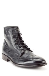Gordon Rush Maxfield Wingtip Boot Black Leather