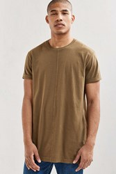 Feathers Center Seam Long Tee Olive