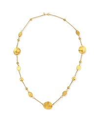 Jose And Maria Barrera 24K Gold Plated Disc Necklace