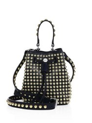 Kenzo Elite Studded Leather Bucket Bag Midnight