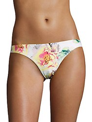 Pilyq Basic Floral Bikini Bottom Summer Flower