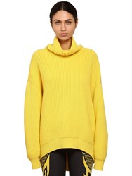 Givenchy Oversize Wool Rib Knit Sweater Yellow