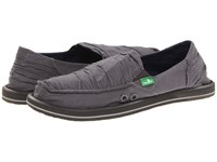 Sanuk Shuffle Charcoal Women's Skate Shoes Gray