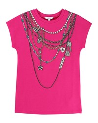 Little Marc Jacobs Essential Jersey Trompe L'oeil Tee Size 4 5 Pink