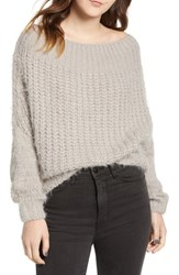 Dreamers By Debut Boatneck Knit Pullover Micro Grey