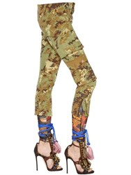Dsquared Camouflage Printed Military Canvas Pants