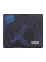 Michael Kors Jet Set Camo Billfold Wallet Blue