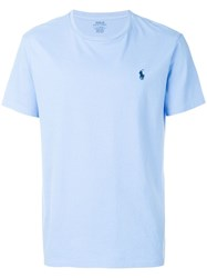 Polo Ralph Lauren Embroidered Logo T Shirt Blue