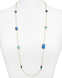 Kate Spade New York Scattered Jewel Chain Necklace 34 Blue Multi Gold