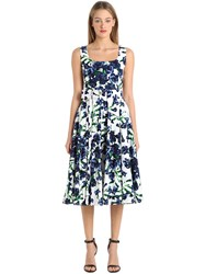 Samantha Sung Floral Print Stretch Cotton Dress