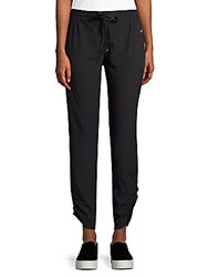 Marika Stretch Drawstring Joggers Black