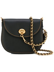 Coach Turnlock Saddle Bag Black