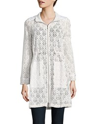 Nic Zoe Poolside Lace Trench Jacket Multi