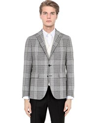 Tagliatore Silk And Wool Blend Prince Of Wales Jacket