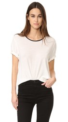 James Perse Relaxed Ringer Tee Ice Cream Black