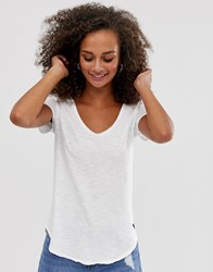 Abercrombie And Fitch V Neck T White
