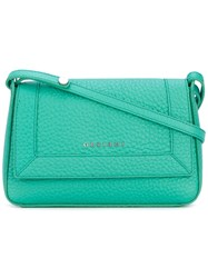 Orciani Classic Shoulder Bag Women Leather One Size Green