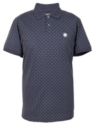 Pretty Green Polka Dot Polo Navy