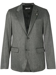 Just Cavalli Patterned Blazer Grey