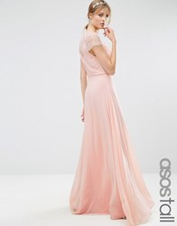 Asos Tall Kate Lace Maxi Dress Nude Beige