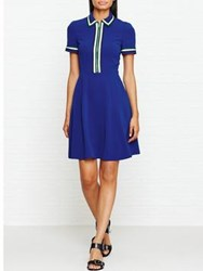 Karen Millen Zip Polo Shirt Dress Blue