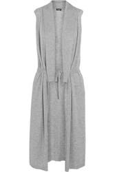 Splendid Belted Knitted Vest Light Gray