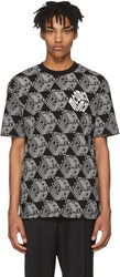 Mcq By Alexander Mcqueen Black And White All Over Cube T Shirt