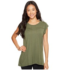 Lucy Effortless Ease Short Sleeve Rich Olive Women's Clothing Metallic