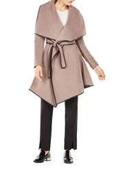 Bcbgmaxazria Cameron Wrapped Trench Coat Taupe Black