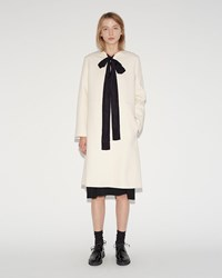 Sara Lanzi Wool Cotton Coat White