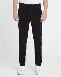 Eleven Paris Black Chaplin Corduroy Trousers