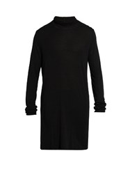 Rick Owens Roll Neck Fine Knit Top Black