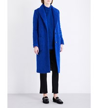 By Malene Birger Nulania Mohair And Wool Blend Coat Cobalt