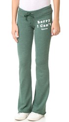 Wildfox Couture Sorry I Can't Tennis Club Sweatpants Prom Queen Green