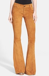 Women's Alice Olivia Suede Leather Pants