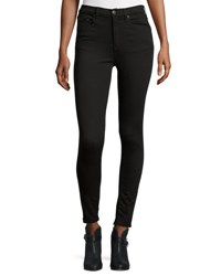 Rag And Bone Dive Studded High Rise Skinny Jeans Black