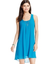 Sequin Hearts Juniors' High Low Shift Dress Turquoise