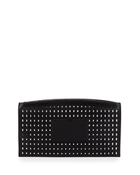 Reed Krakoff Atlantique Perforated Leather Zip Pouch Black