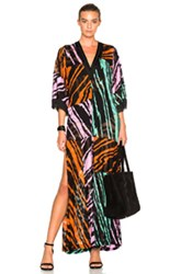 Missoni Mare Long Caftan In Black Stripes Black Stripes