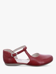 Josef Seibel Fiona 65 Leather Buckle Strap Pumps Red