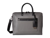 Mcm Markus Leather Medium Briefcase Charcoal Briefcase Bags Gray