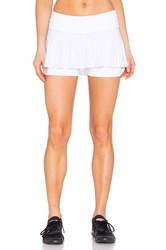 Beyond Yoga Sleek Stripe Tennis Skort White
