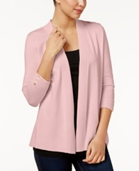 Charter Club Petite Open Front Cardigan Only At Macy's Misty Pink