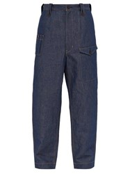 Junya Watanabe Loose Fit Cotton Blend Jeans Indigo