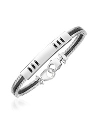 Forzieri Di Fulco Line Stainless Steel Men's Bracelet Silver