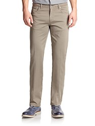 Saks Fifth Avenue Five Pocket Stretch Cotton Pants Taupe