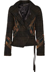 Isabel Marant Linen And Wool Blend Jacket Brown