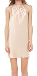 Leon Max Silk Charmeuse Halter Dress