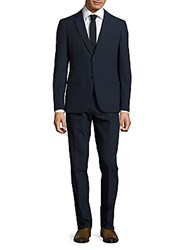 John Varvatos Italian Wool Suit Dark Navy